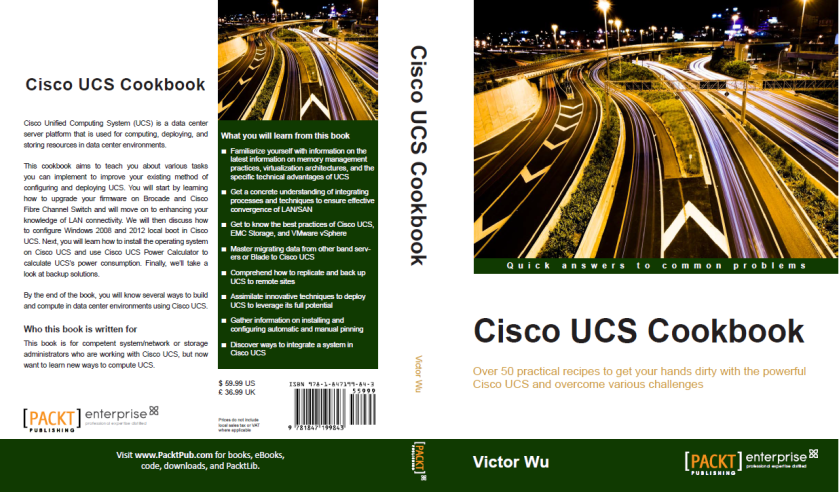 """My new book """"Cisco UCS Cookbook"""" coming soon – Victor Virtualization"""