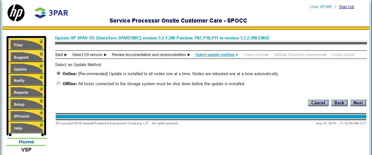 hpe 3par service processor software 5 x release notes
