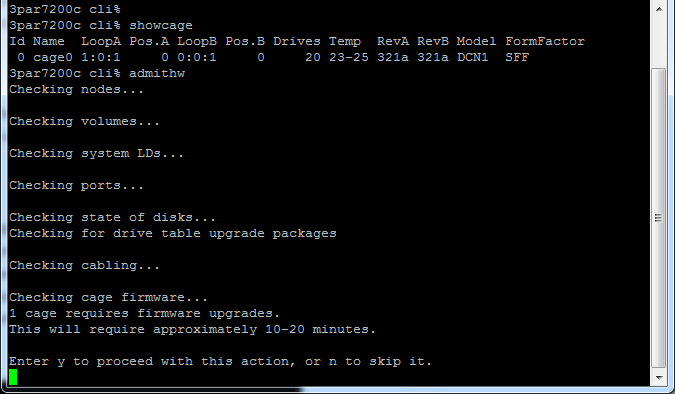 HP 3PAR OS upgrade 3 2 1 to 3 2 2 – Victor Virtualization