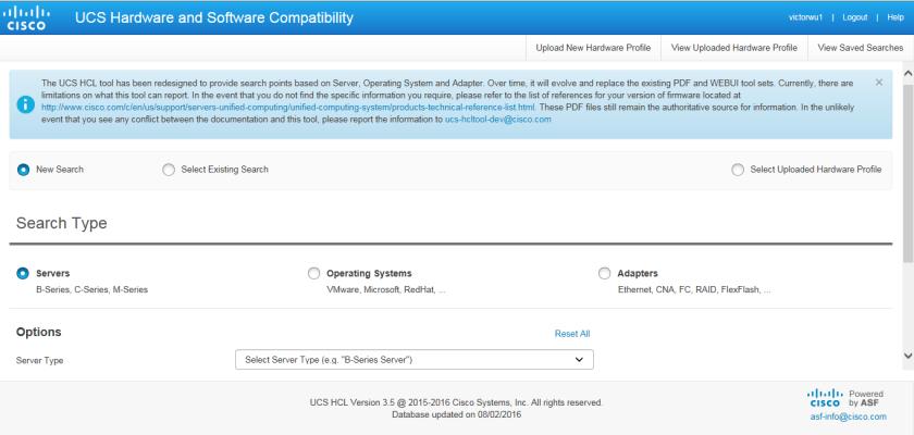 UCS Hardware and Software Interoperability Matrix Tool – New