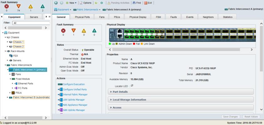 Cisco Fabric Interconnect – Cisco UCS 6332 16UP – Victor