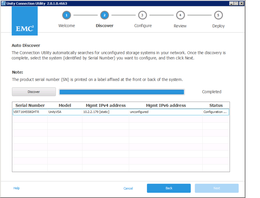 EMC Unity Initialization – Victor Virtualization