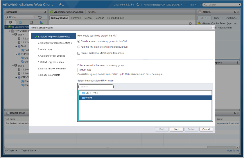 Dell EMC RecoverPoint for Virtual Machines 5 1 – Protect VM