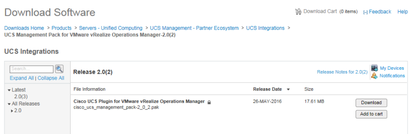 Cisco UCS Management Pack for VMware vRealize Operations 6 6