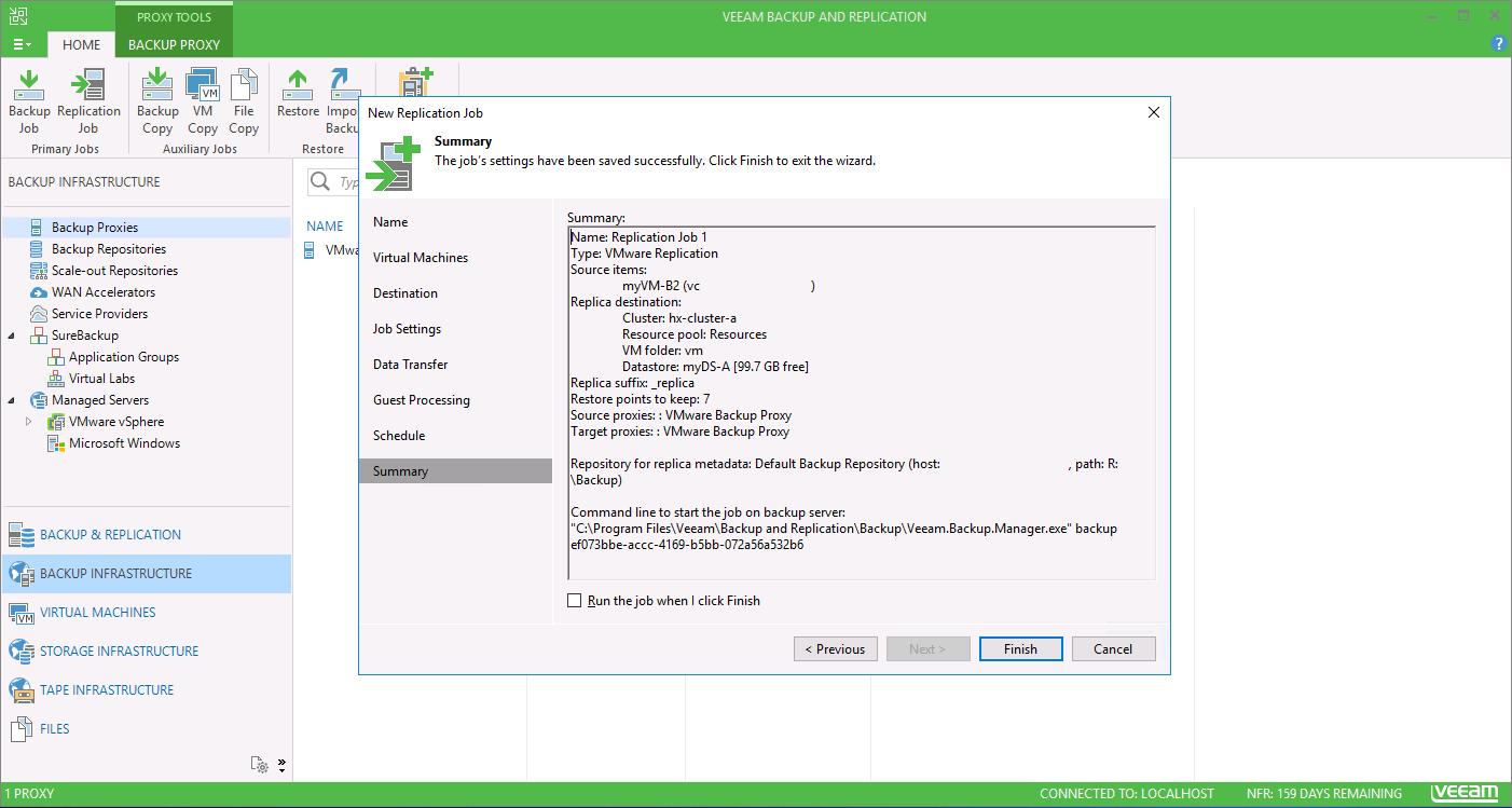 Cisco HyperFlex Systems and Veeam Backup and Replication – VM