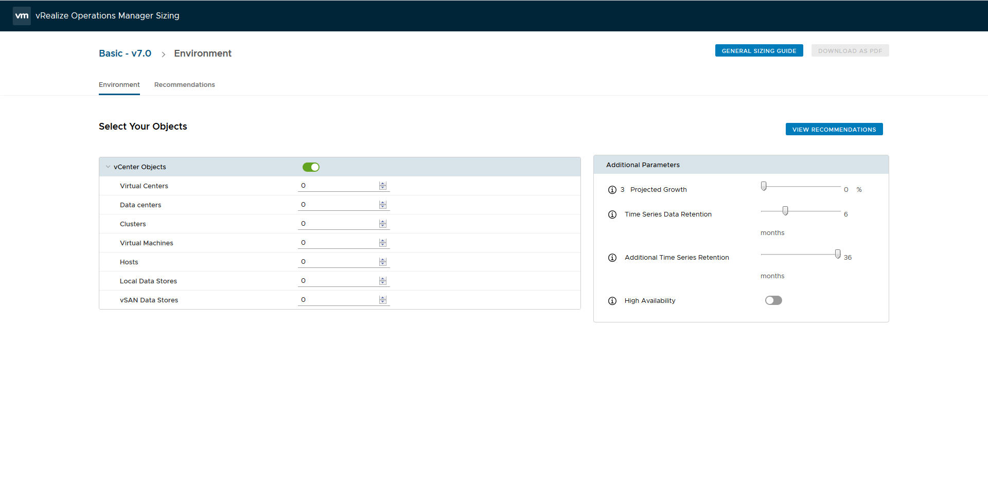 VMware vRealize Operations Manager Sizing Tool – Victor Virtualization